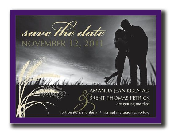 Dramatic Black and White Save the Date DIY by lauraleidesign, $25.00