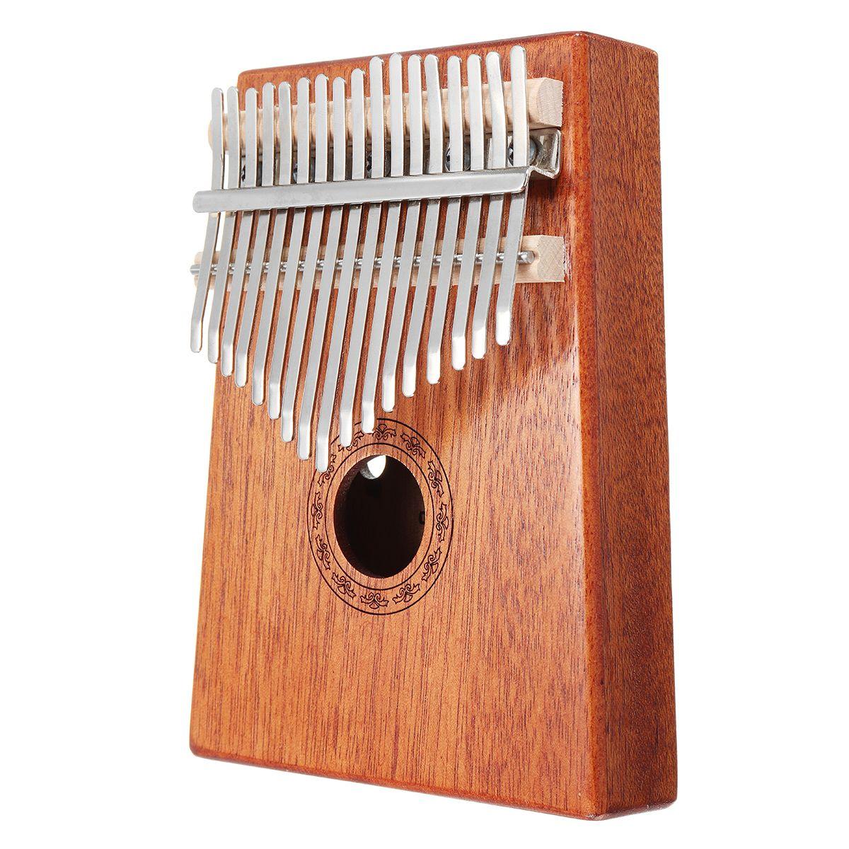 17 keys wood kalimba mahogany thumb piano finger