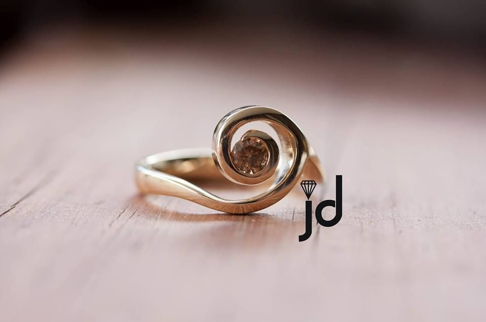 Australian Chocolate Diamond Ring New Zealand Koru