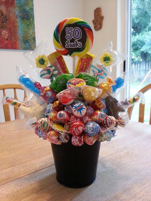 Quot 50 Sucks Quot Diy 50th Birthday Bouquet Birthdays