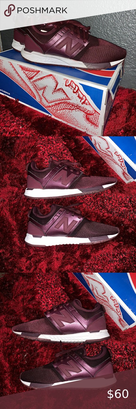 New Balance Maroon LifeStyle Shoes | New balance red, New balance ...