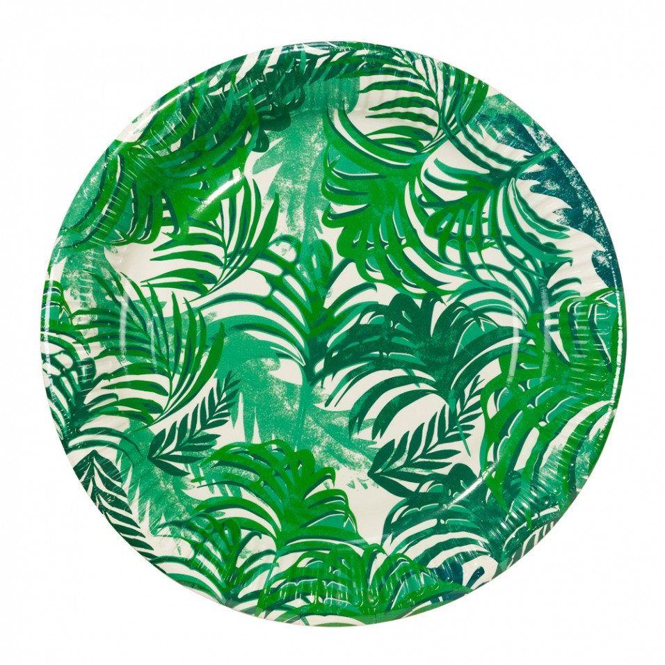 12x Jungle Theme Leaf Plates Party Plates Tropical Theme