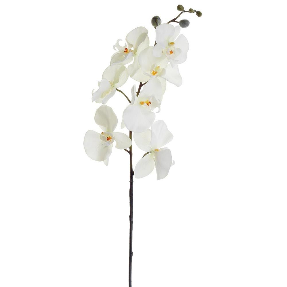 Artificial phalaenopsis orchid spray in cream white
