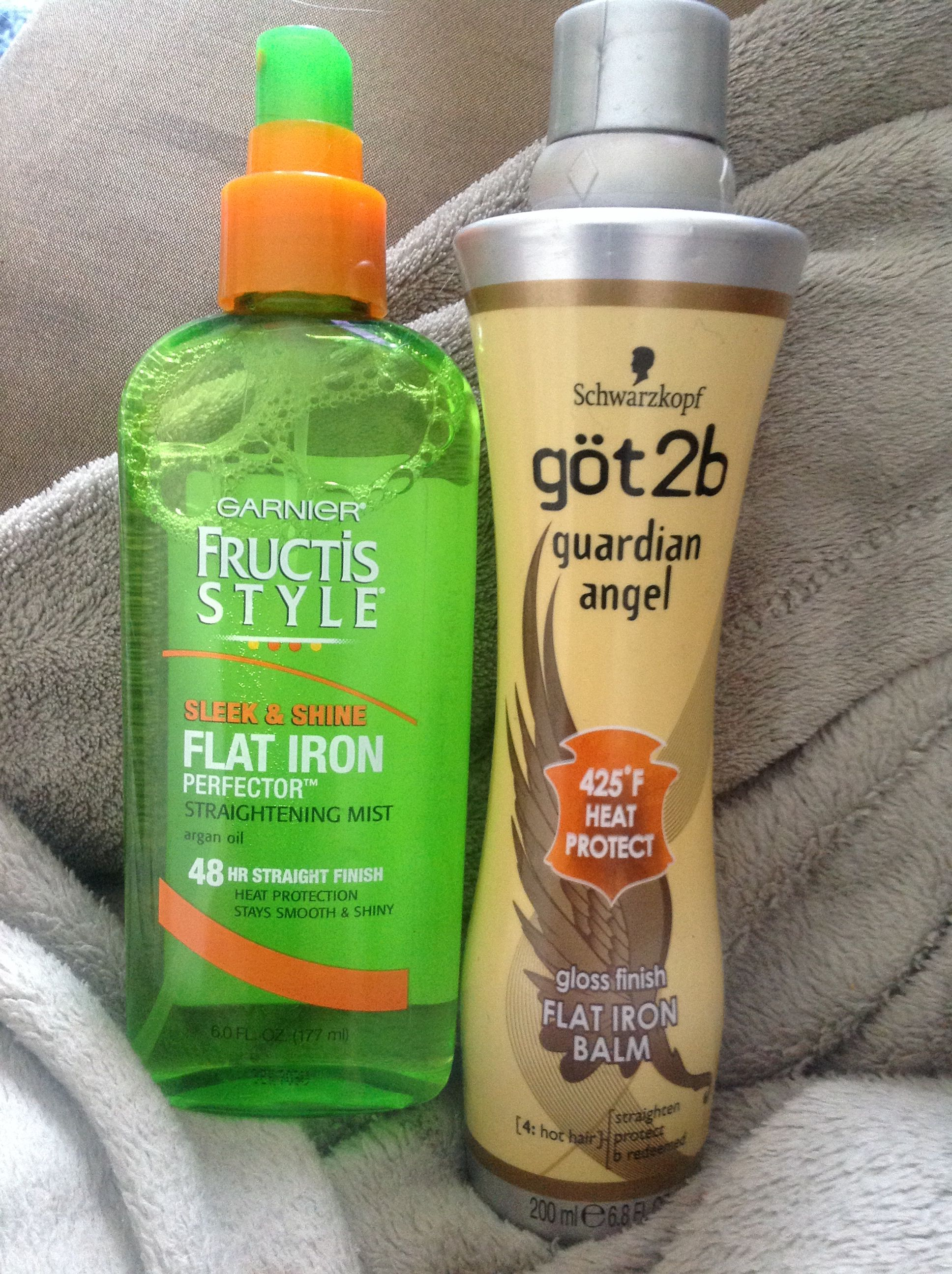 These two products keep my hair straight all day NO MATTER