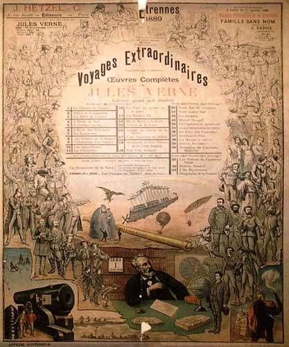 Voyages Extraordinaires Jules Verne Vintage Vintage Paper