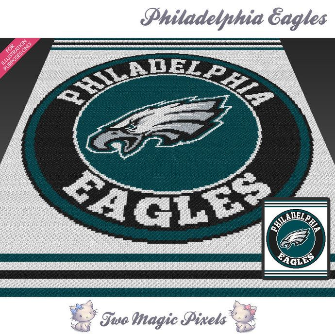 Philadelphia Eagles c2c graph crochet pattern; instant PDF download ...