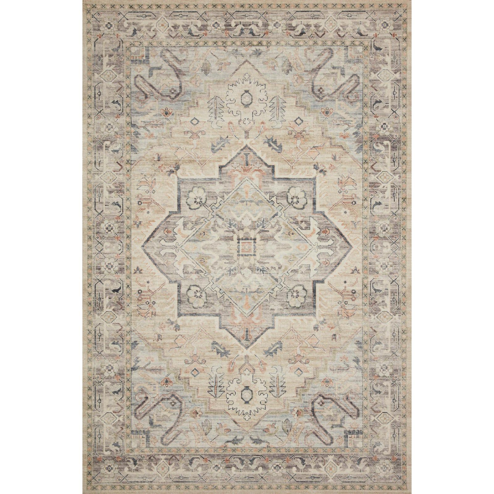 Loloi Rugs Hathaway Multi Ivory 5 0 X 7 6 Area Rug Colorful Rugs Ivory Rug Distressed Rugs