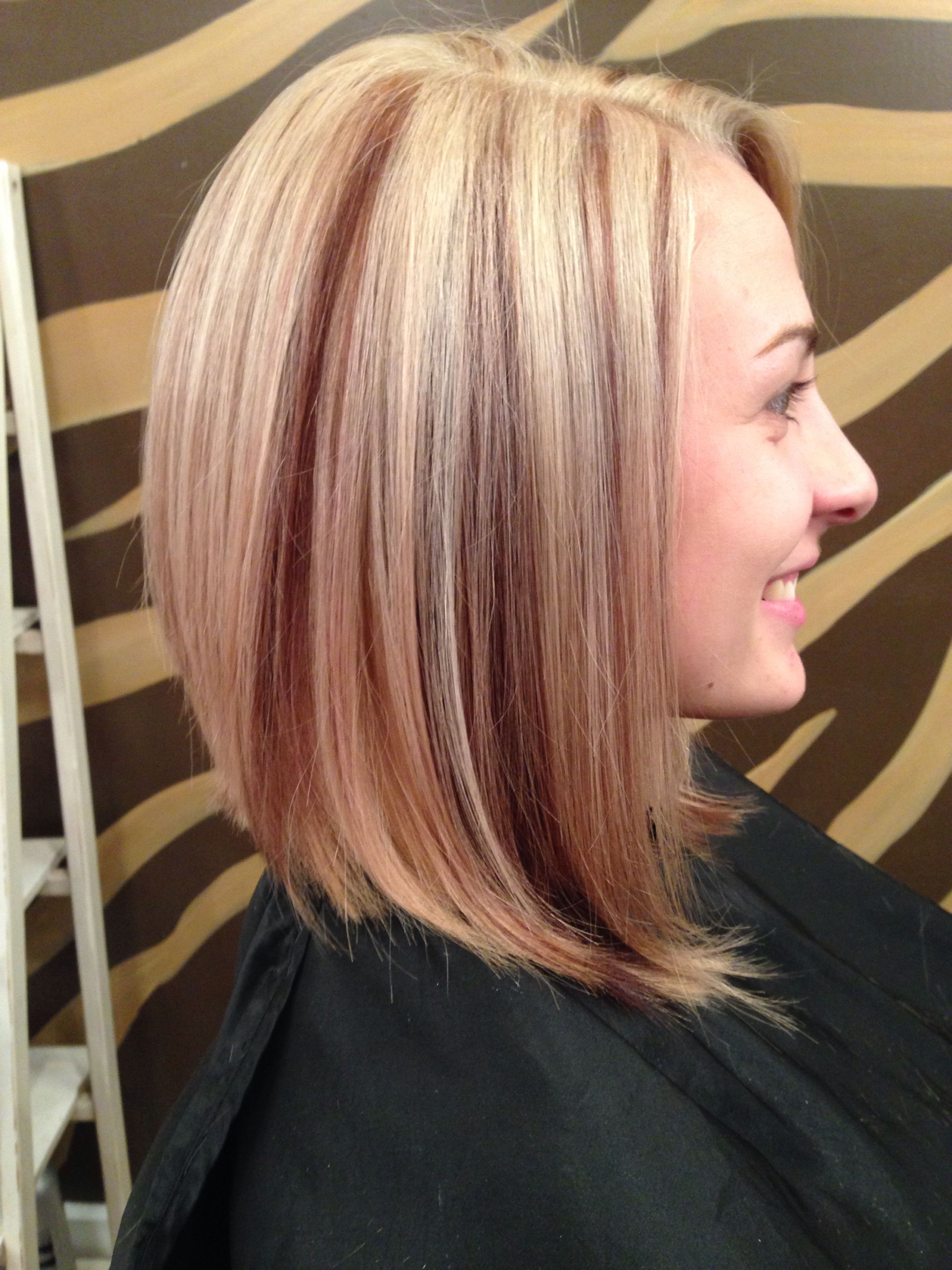 Red brown lowlights blonde and red pinterest hair coloring and