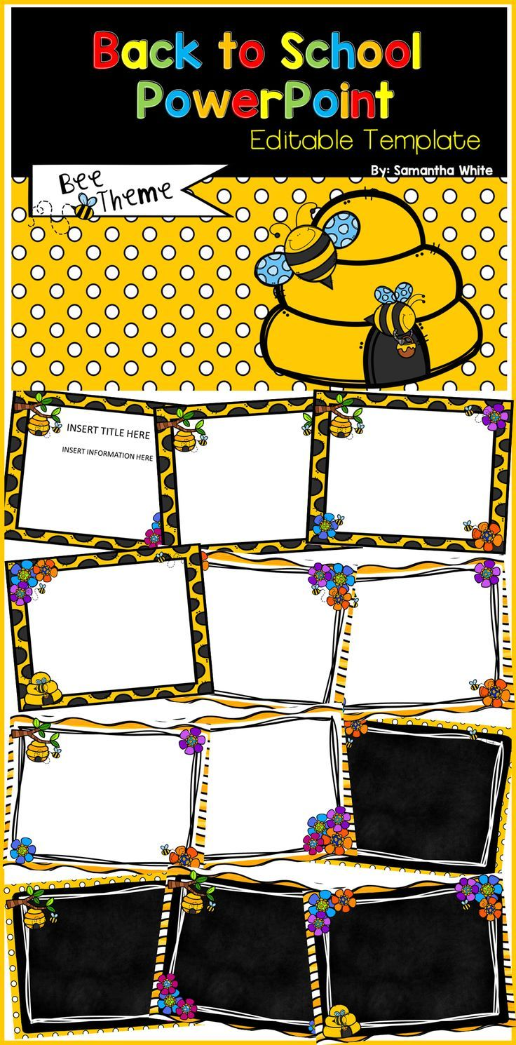 Use this back to school bee theme powerpoint template to present use this back to school bee theme powerpoint template to present information to families and students toneelgroepblik Image collections
