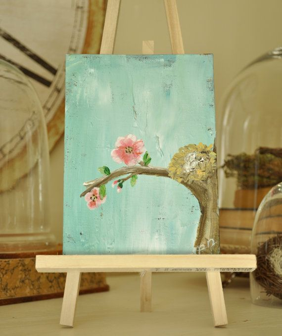 Blooming Branch Mini Painting 5 X 7 Inch Cute PaintingsBranches