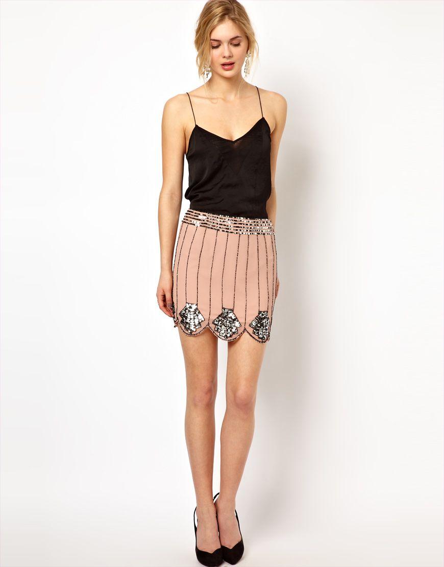 Scallop Edge Skirt   Great Gatsby Style   shopping love   Pinterest