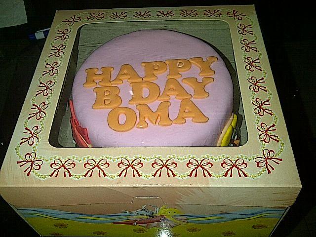 Birthday cake for grandma :)