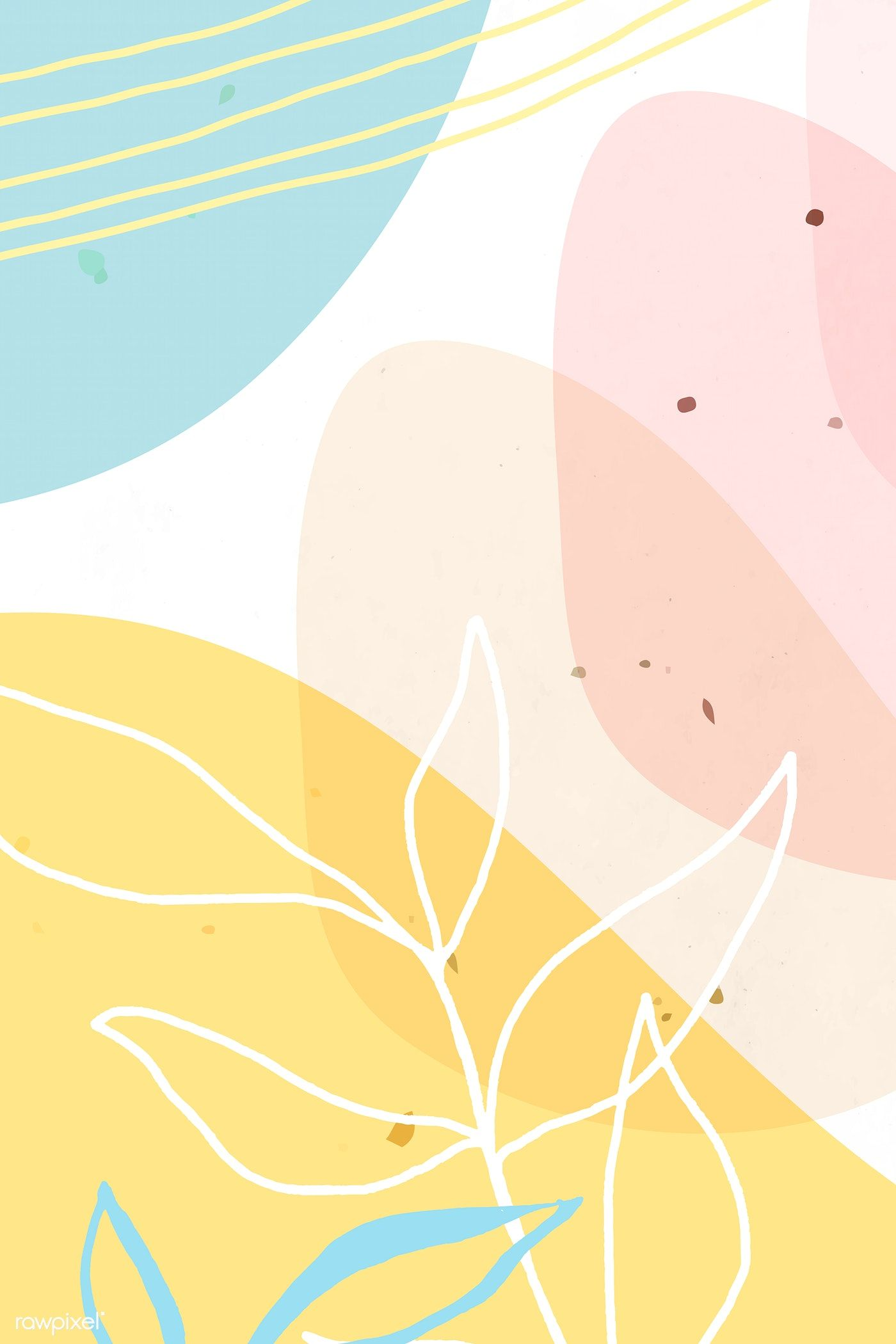 Download Premium Vector Of Abstract Pastel Memphis Patterned Background Background Patterns Pastel Background Abstract