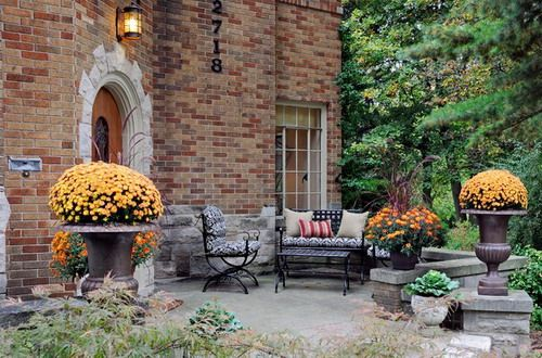 Ann Arbor Tudor Traditional Front Yard Patio Furniture Ideas