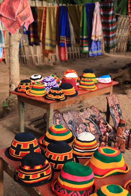 Vibrant geometric patterned hand-woven hats and cotton lengths. The Dorze tribe are renowned for a rich weaving tradition, be it cotton, bamboo and other natural fibres and materials. The village is located in the highlands above the small town of Ar   Click on the pic above for more details.  http://www.ethnicbeautysupplies.com