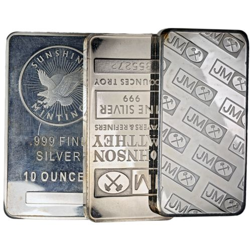 Miscellaneous 10 Oz Silver Damaged Silver Silver Bars 10 Things