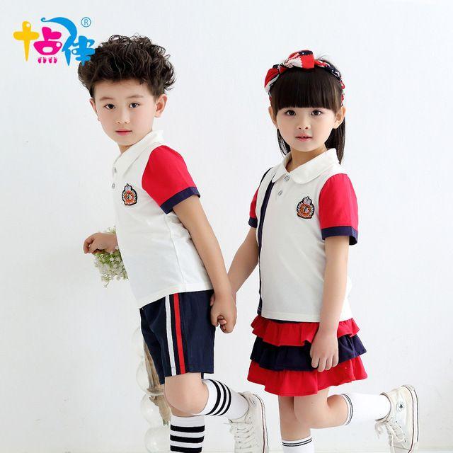 b29c88ade Juego de ropa para niños niñas de la escuela de tenis niños deportes traje  uniformes de verano edad niños tamaño 6 7 8 9 10 11 12 15 16 años