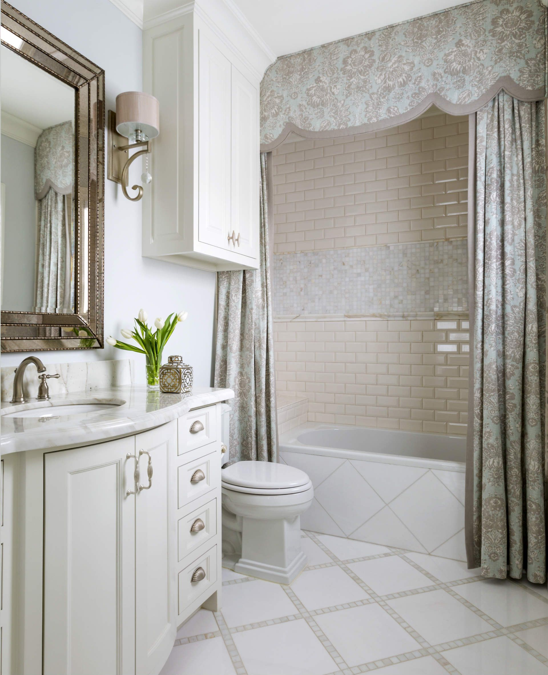 Fort Worth Georgian | Southern Home Magazine | Guest Bathroom ...