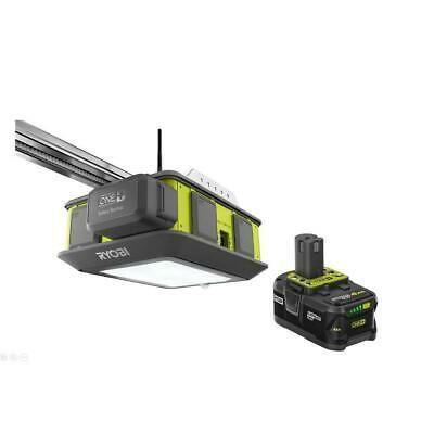 Details About Ryobi Ultra Quiet 2 Hp Belt Drive Garage Door Opener W Battery Backup And 4 Ah Garage Door Opener Ryobi Belt Drive
