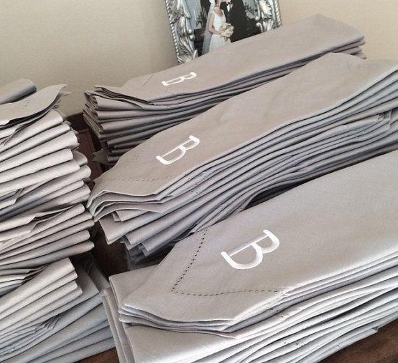 Bulk Monogrammed Wedding Cloth Napkins / by WhiteTulipEmbroidery