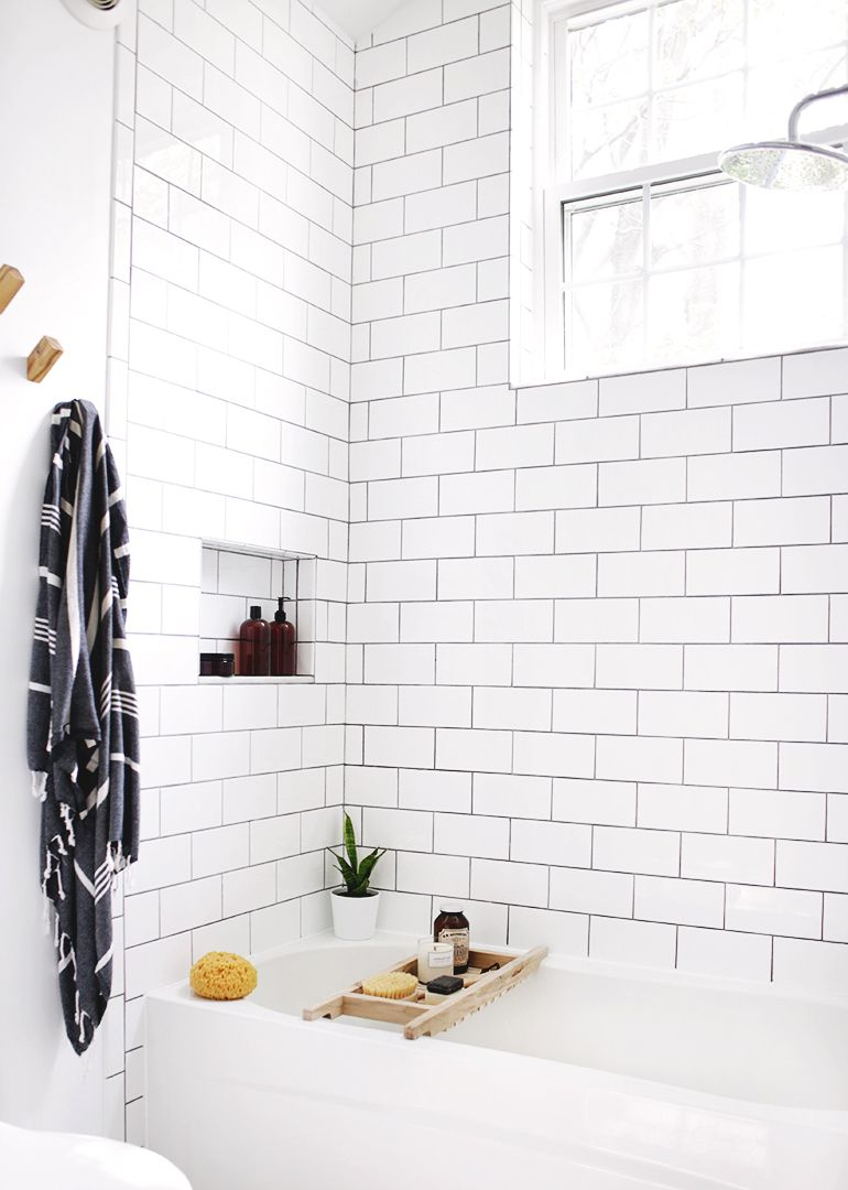 DIY Bathtub Caddy | Pinterest | Grout, Subway tiles and Bathtubs
