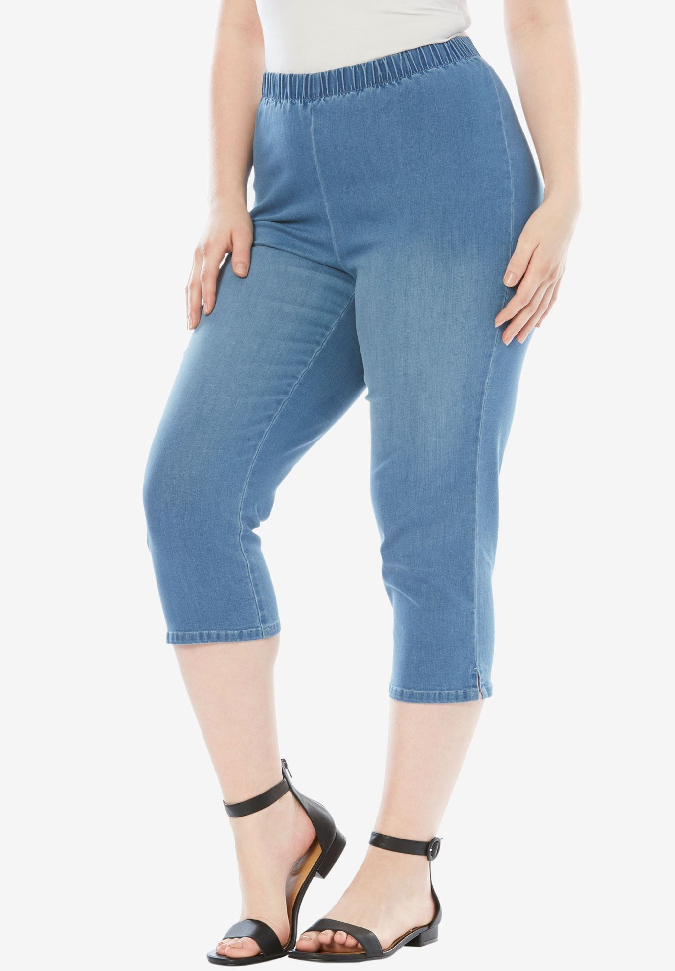 25b7ed20833 Capri Pull-On Stretch Jean by Denim 24 7®