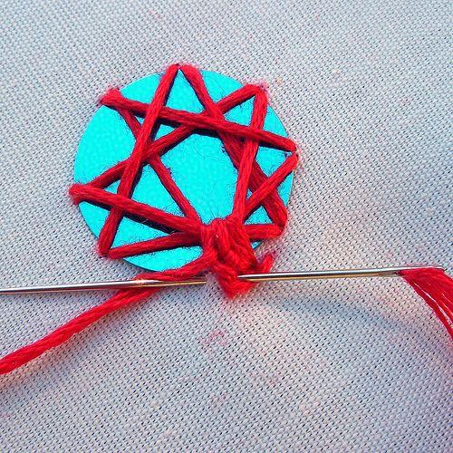 Tutorial indian shisha mirror embroidery needlework
