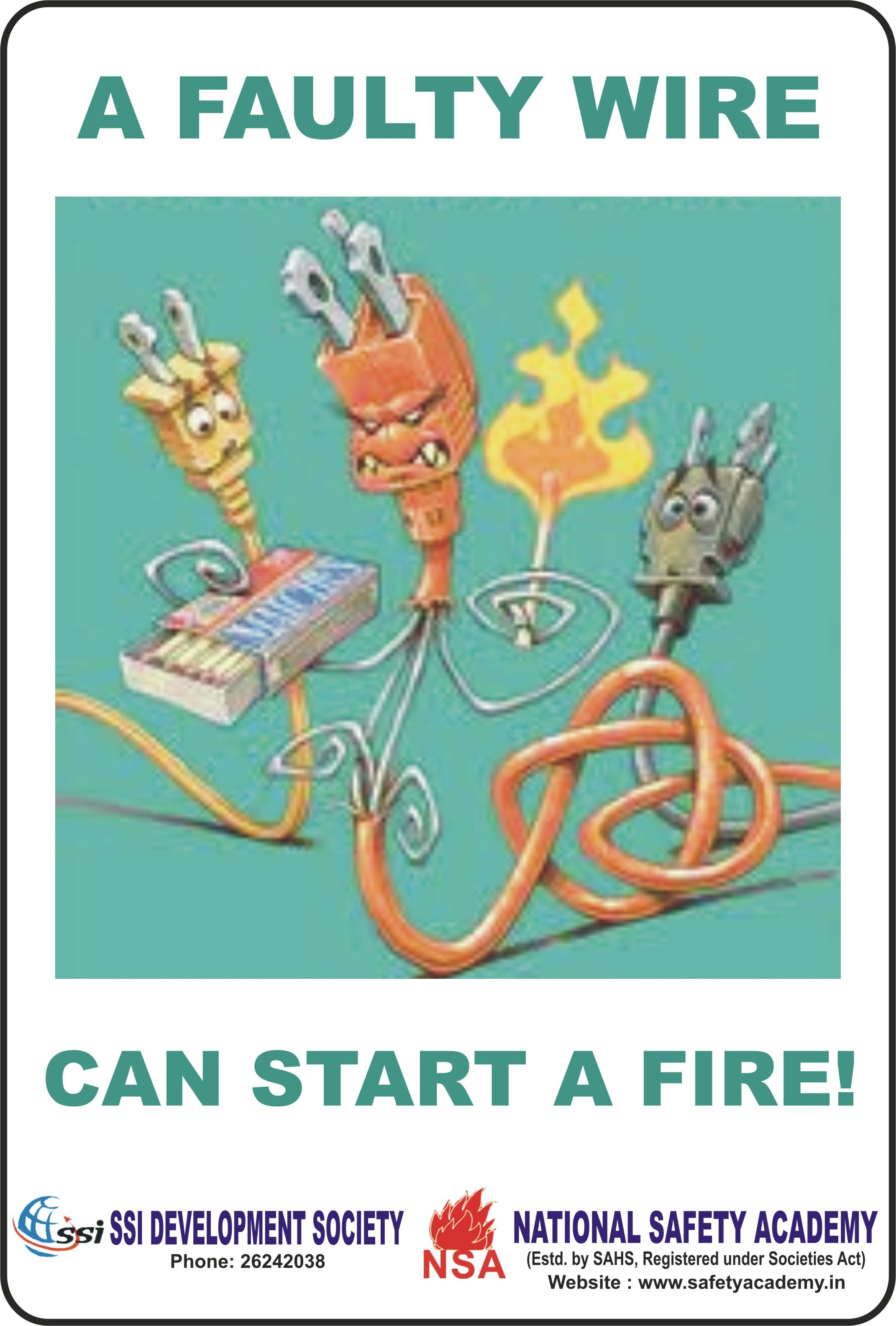 A faulty wire can start a Fire. | Fire and Safety Tools | Pinterest