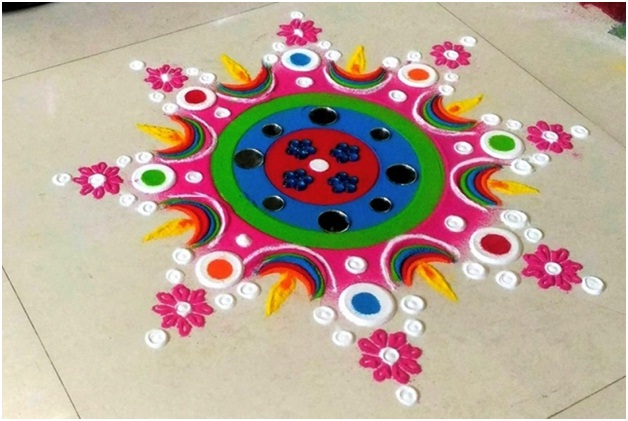 25+ New and Simple Rangoli Design Images For Diwali 2019