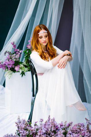 Hippie Hochzeitskleid mit Ärmeln | Dressing gown