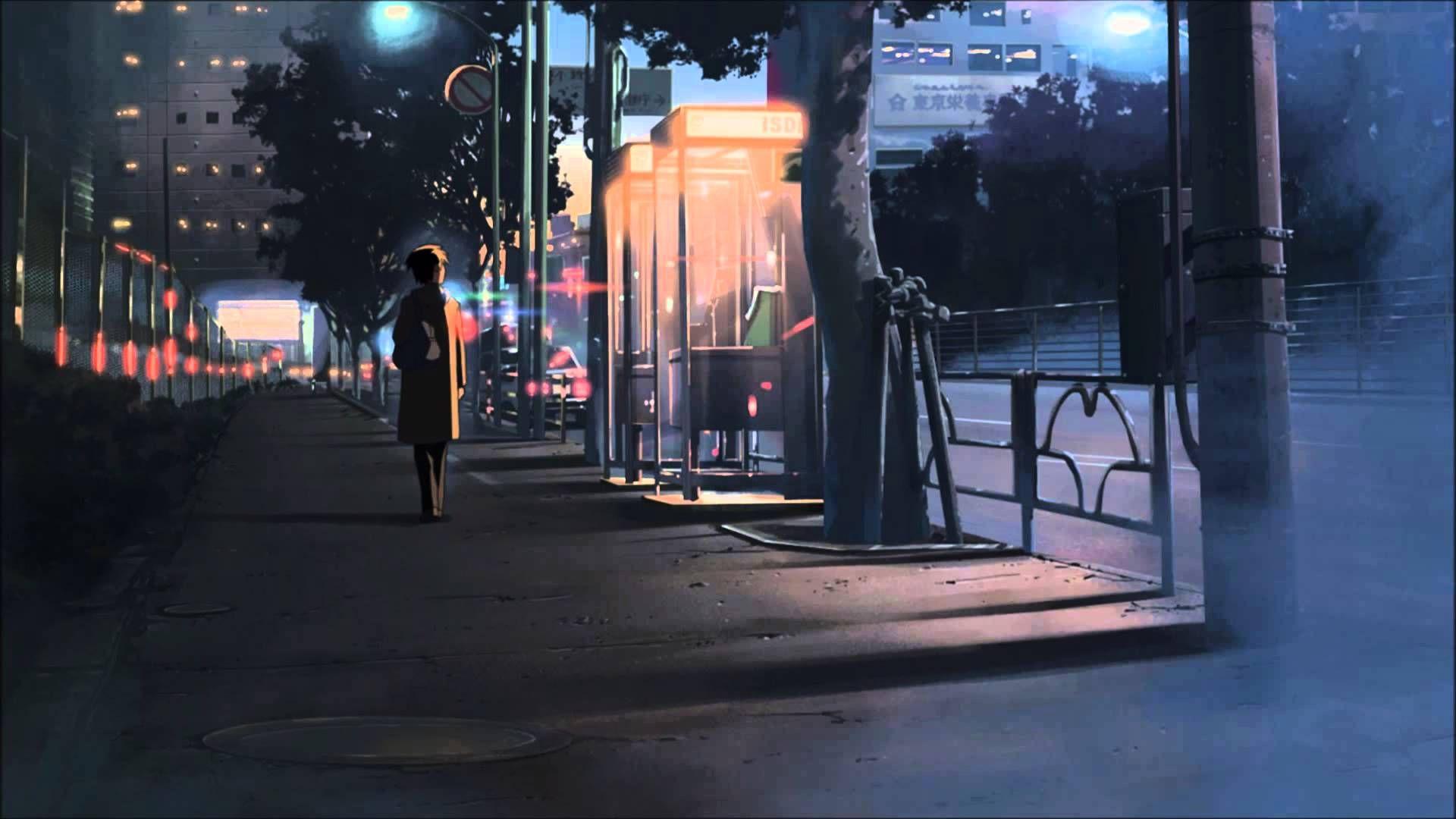 Image result for inner city street Anime wallpaper phone