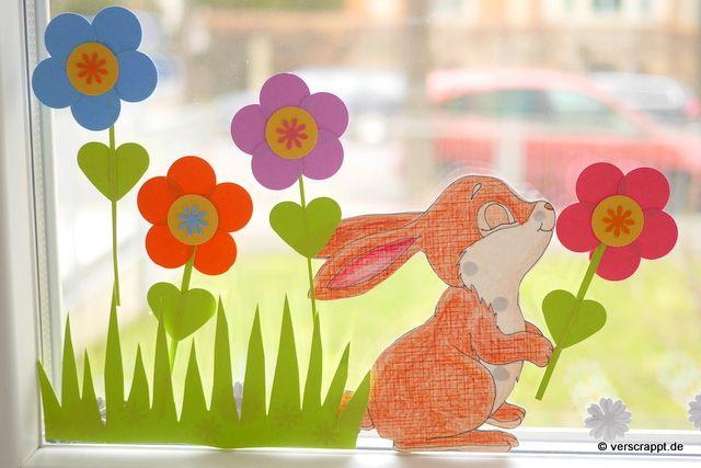 Gestanzte Fensterdekoration für Frühling und Ostern – Verscrappt.de ...