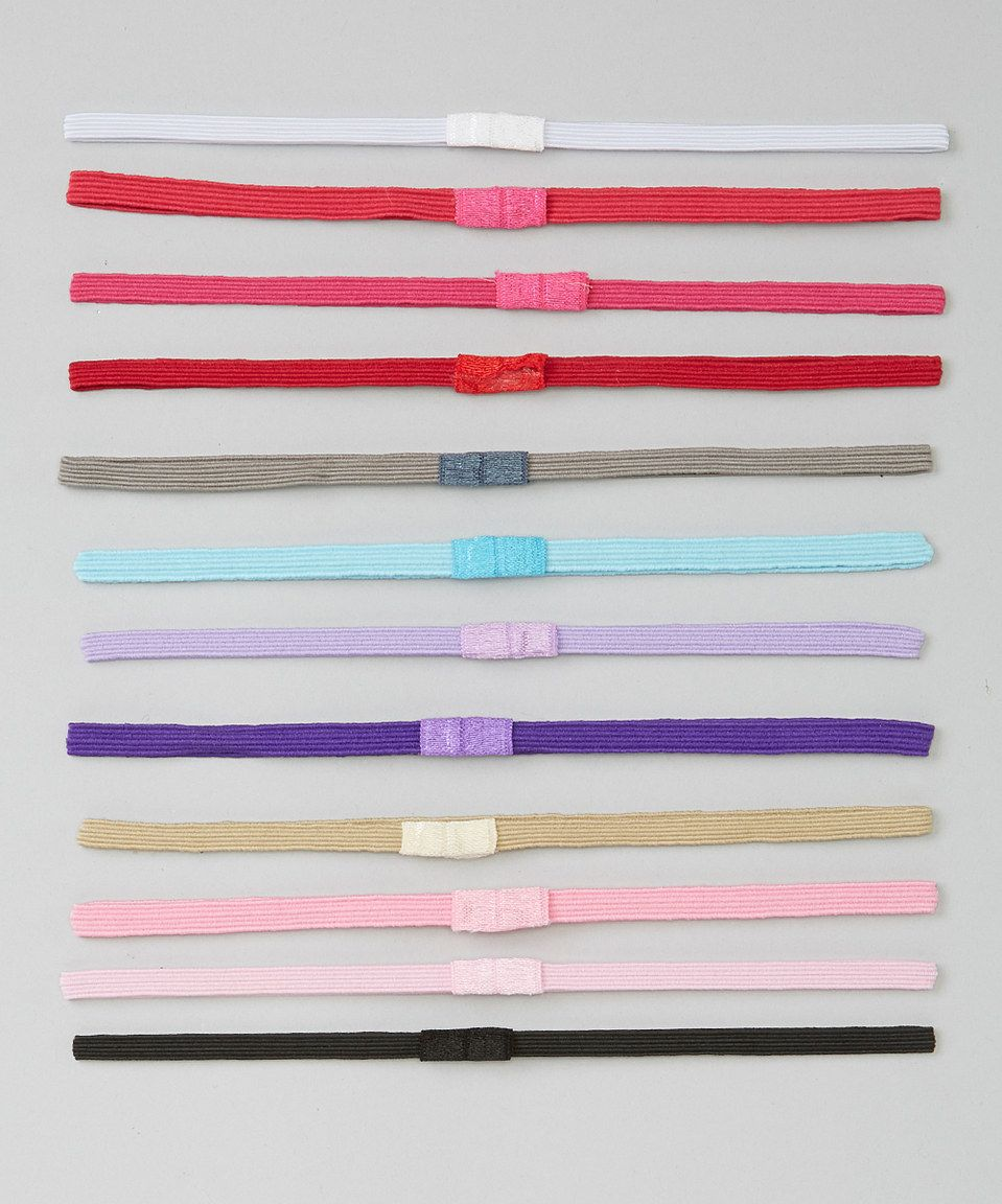 Love this Pink & Aqua Skinny Headband Set by Chicaboo on #zulily! #zulilyfinds