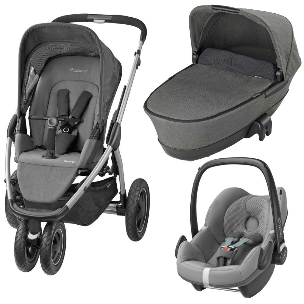 Maxi Cosi Car Seat On Mothercare Xpedior Maxi Cosi Mura Plus 3 Pebble Travel System Package Concrete
