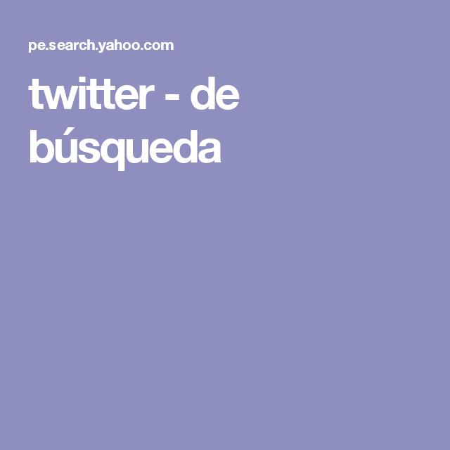 twitter - de búsqueda