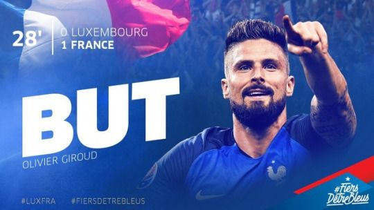 match qualification France-Luxembourg 3-1 25/03/2017