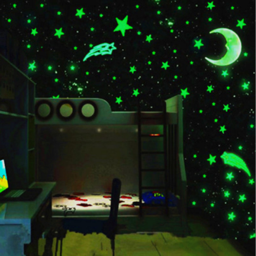 Creative 3d Luminous Stars Stickers Bedroom Wall Sti Wall Stickers Bedroom Star Bedroom Baby Room Decor