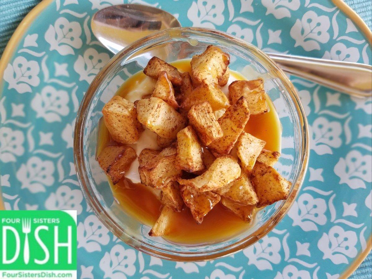 Air Fryer Or Oven Cinnamon Roasted Apples Recipe Roasted Apples Apple Recipes Recipes