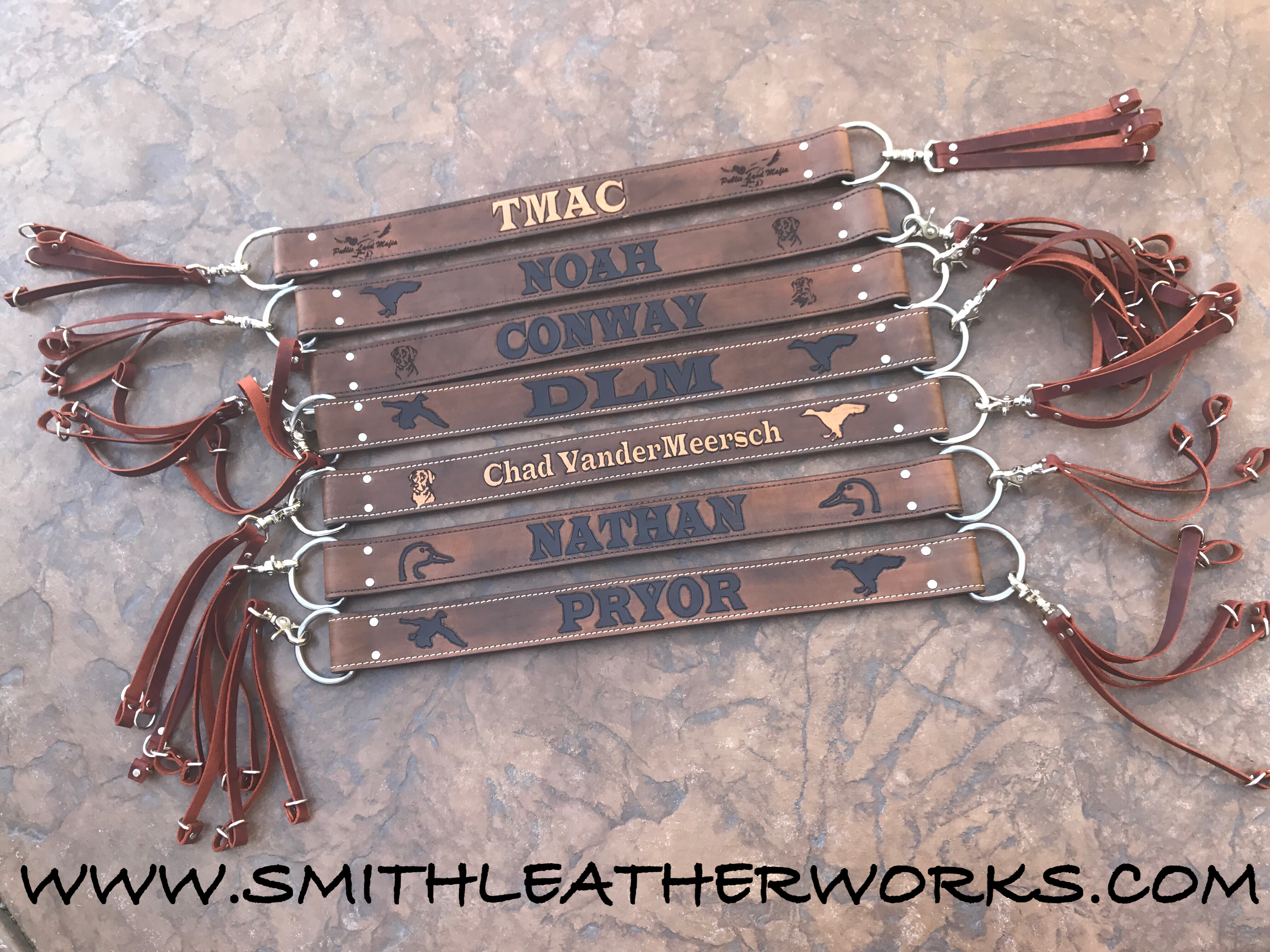 Custom Padded Leather Duck Straps Leather Game Carriers