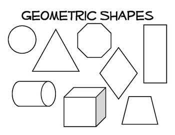 Organic Shape Organic And Geometric Shape Coloring Page  Organic Shapes And .