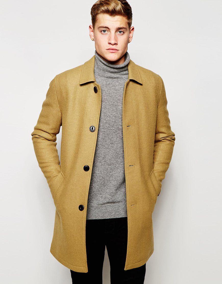 Jack & Jones Wool Overcoat
