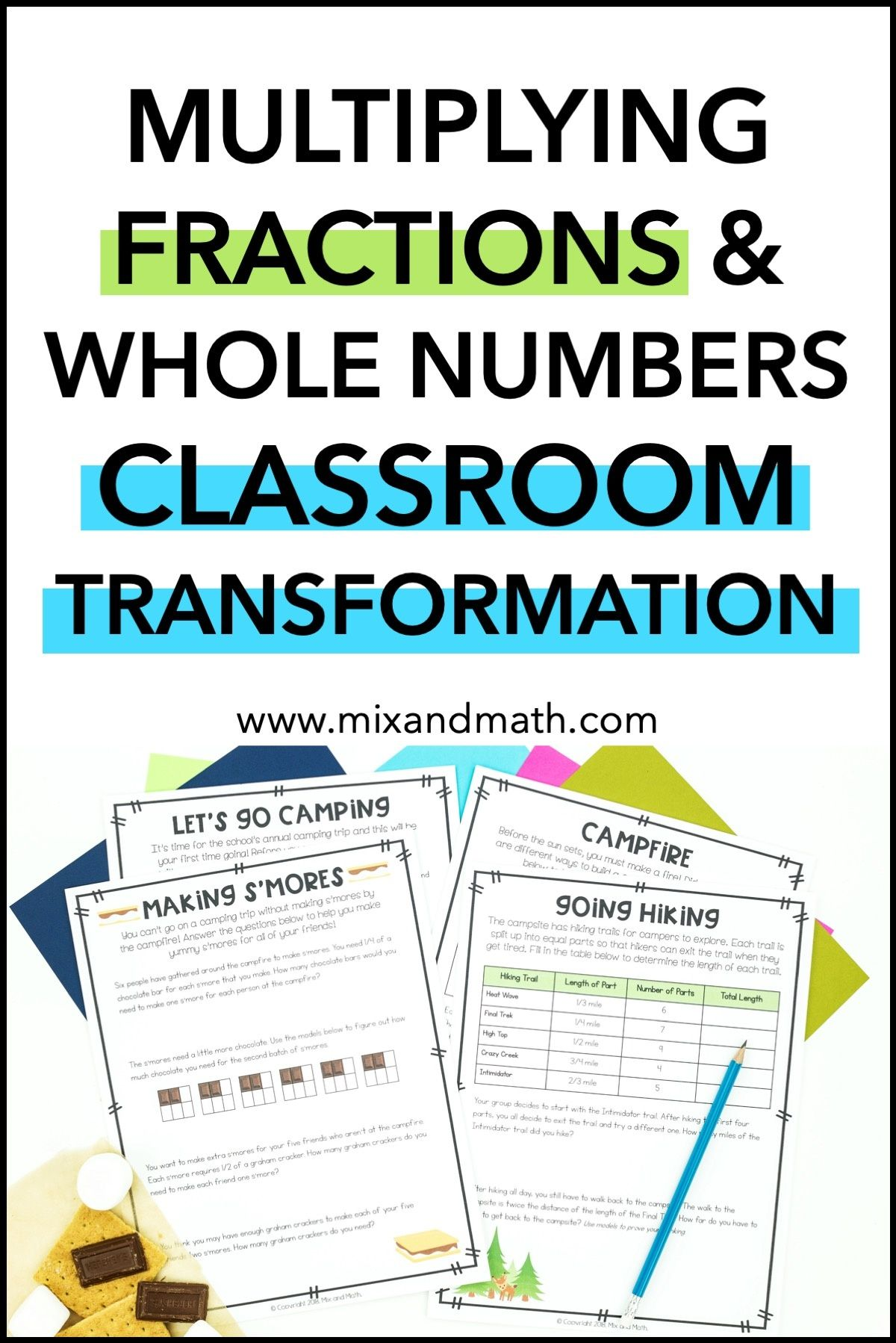Multiplying Whole Numbers And Fractions Mini Unit