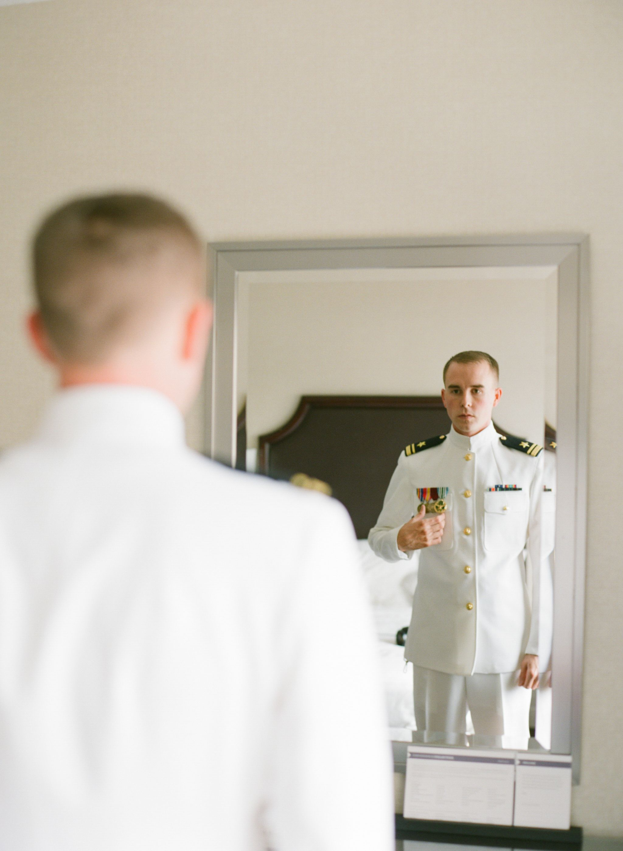Dress white uniform with medals