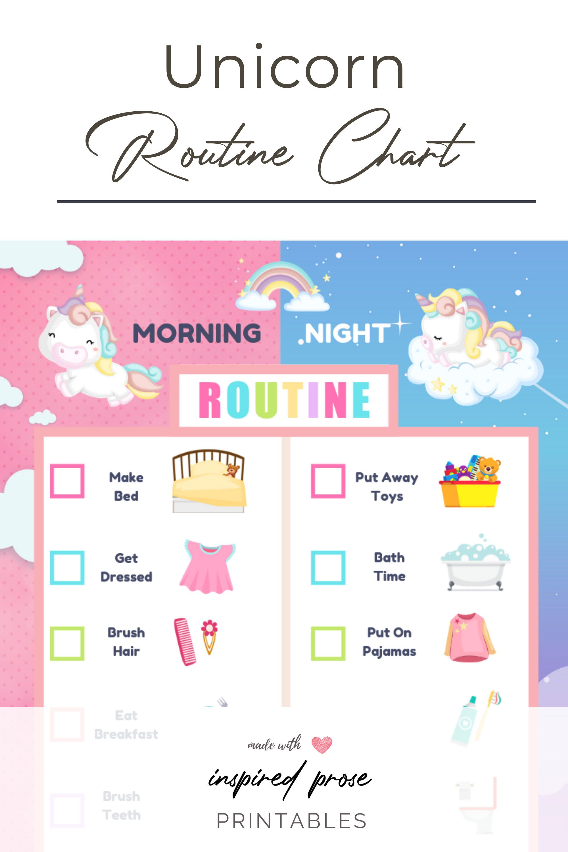 Editable Unicorn Chore Chart