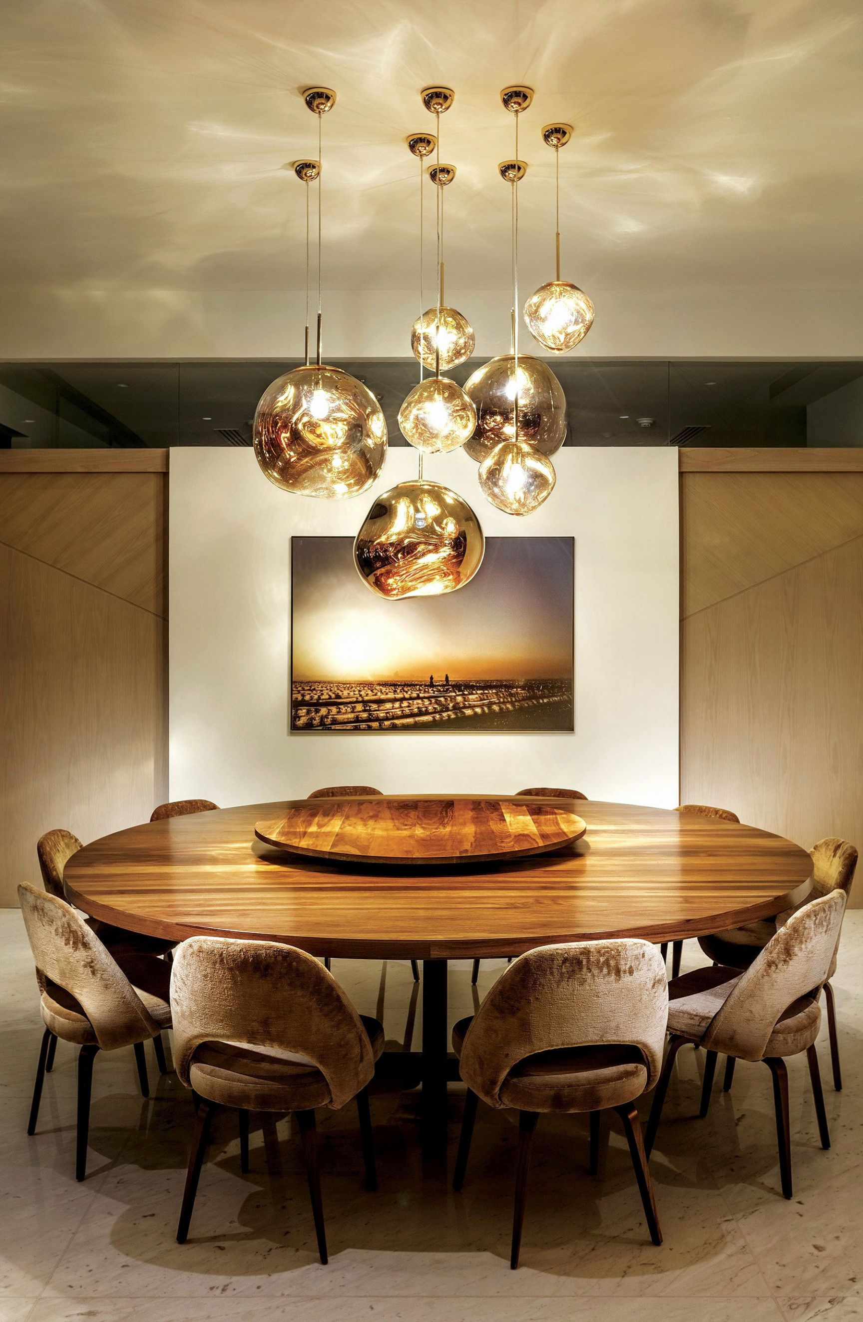 Curated Design Contemporary Dining Room Ambiances Dining Table