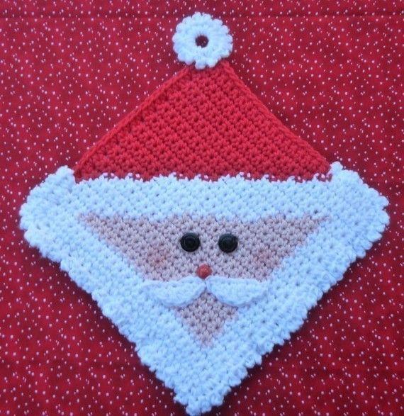 Santa Potholder Crochet PATTERN - INSTANT DOWNLOAD | Crocheting ...