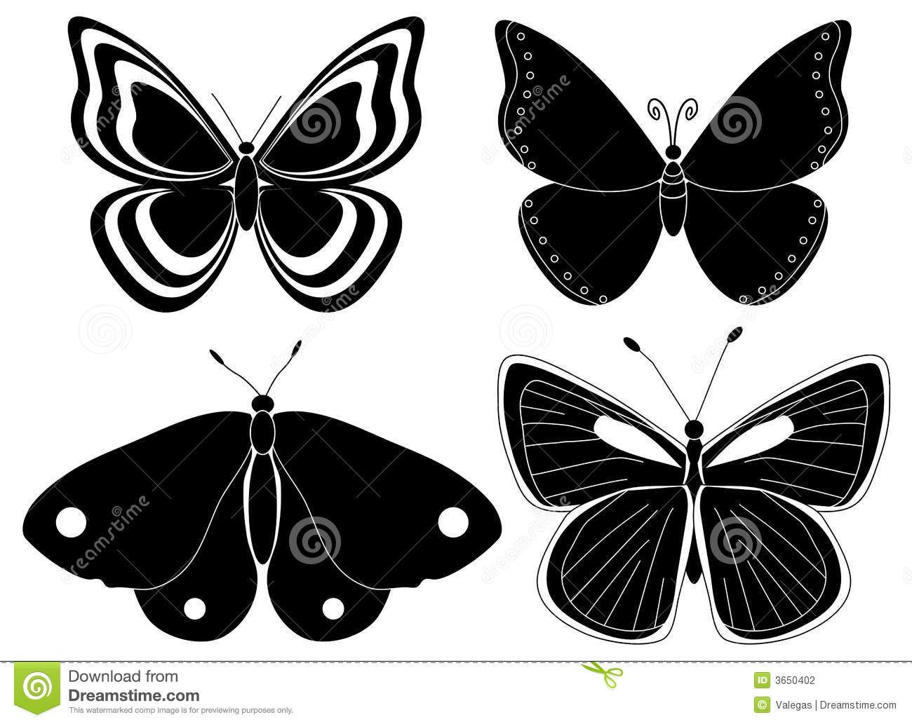 http://www.dreamstime.com/stock-photography-four-butterfly-silhouettes-image3650402