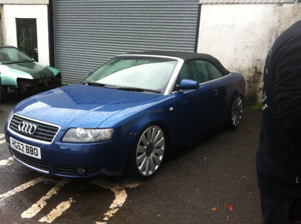 audi a4 cabrio lowered on coilovers 20 rims bikes. Black Bedroom Furniture Sets. Home Design Ideas
