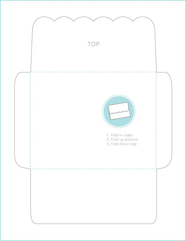 Cute And Useful  Home  Cute ScallopedEdge Envelope Template