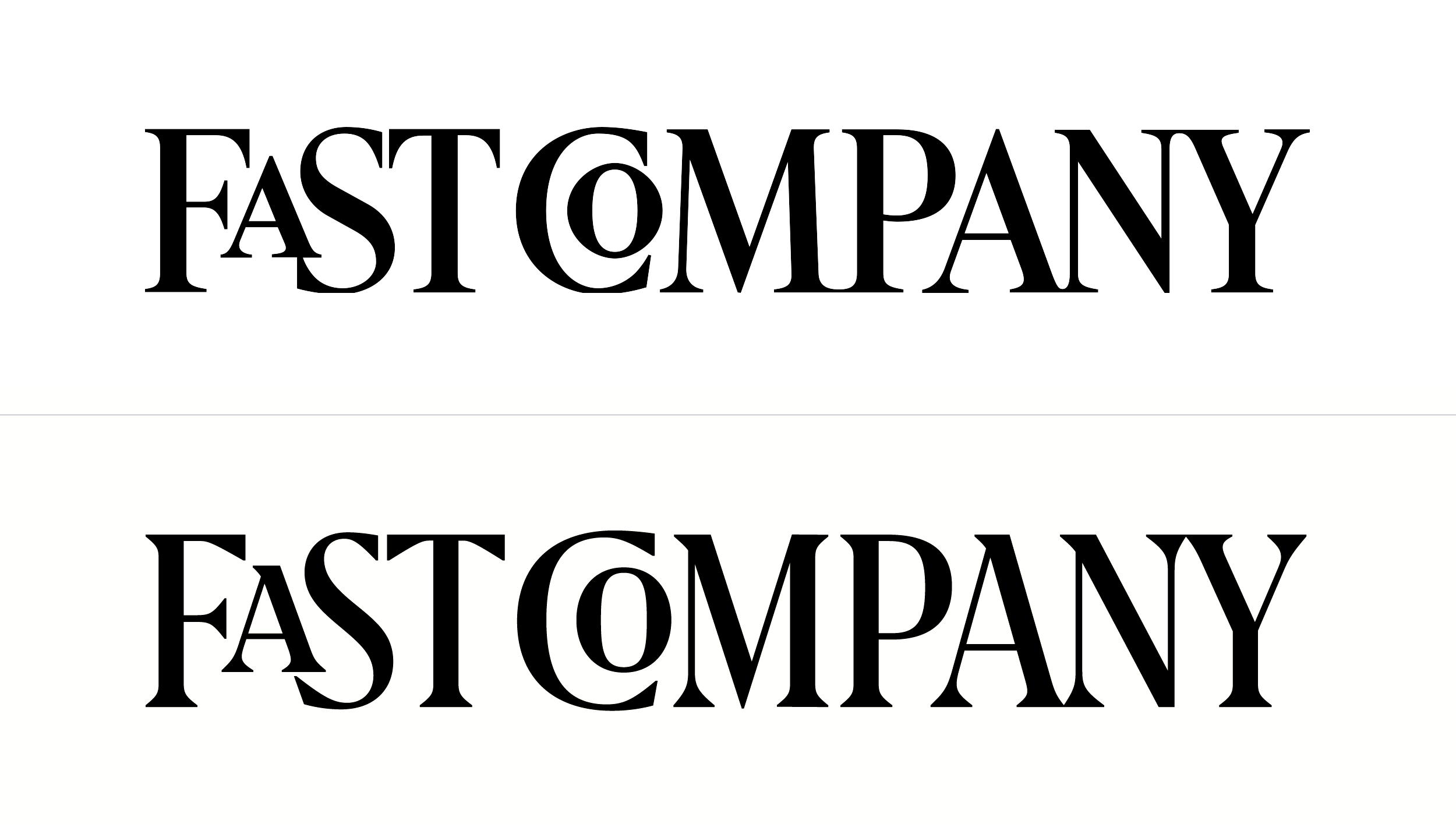 New Logo For Fast Company By Rui Abreu And In House Graphic Design Logo Pretty Words Lettering